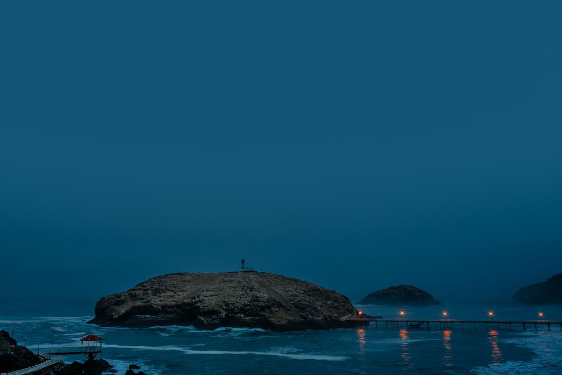 playa paisaje al amanecer